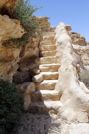 canyon negev:  Stairway to Heaven  Ein Avdat Canyon in Negev desert, Israel