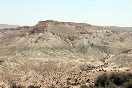ein:  Ein Avdat Canyon in Negev desert, Israel. Stock Photo