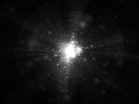 Glare and rays on a black background 版權商用圖片 - 19448165