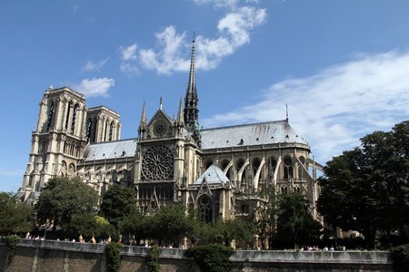 known: Notre Dame de Paris  French for  Our Lady of Paris , meaning the church in Paris dedicated to the Virgin Mary , often known simply as Notre Dame in English, is a Gothic cathedral