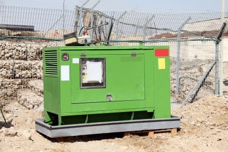 Industrial-sized electrical  power generator photo