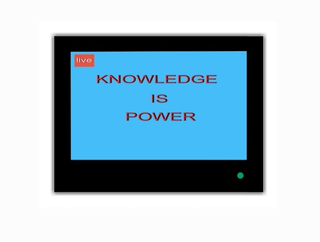 saver: TV screen saver  Knowledge is power Stock Photo