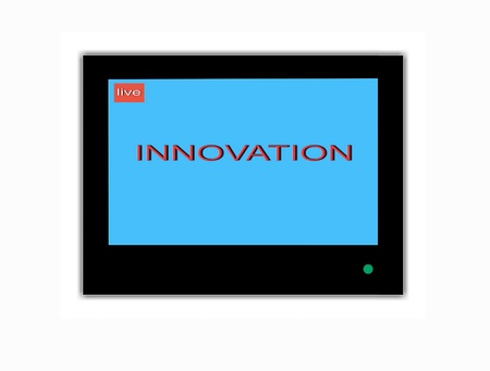 saver: TV screen saver  Innovation Stock Photo