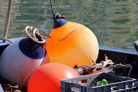 Buoy on the boat photo