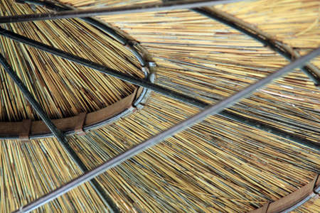 thatched roof: Beach Umbrella Thatched Roof  Detail