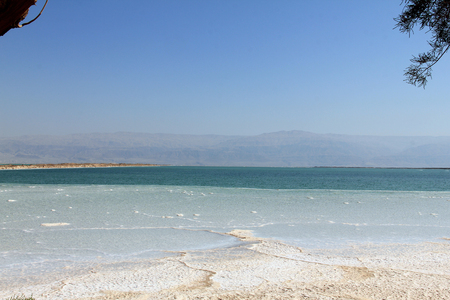 Salt in the Dead Sea, Israel photo
