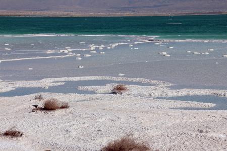 sediments: Salt in the Dead Sea, Israel