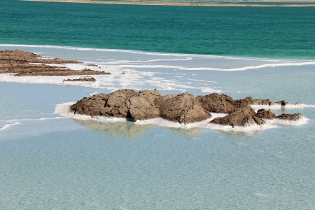 Salt in the Dead Sea, Israel photo