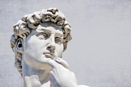 male likeness: Detalle de primer plano de Miguel �ngel s David estatua, con el lugar de su dise�o o de texto Foto de archivo