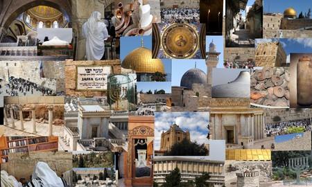 knesset: Go Jerusalem - background with travel photos of Jerusalem landmarks   Stock Photo