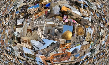 knesset: Go Jerusalem - background with travel photos of Jerusalem landmarks  I used my own photos for this collage