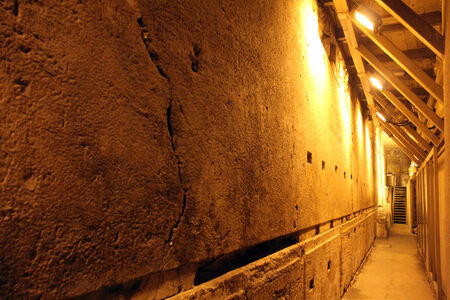 holies: Western Wall Tunnel  485 metres  The biggest stone - 510 long tons