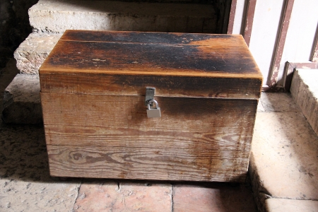 Old dower chest in the Tomb of the Virgin Mary  Jerusalem