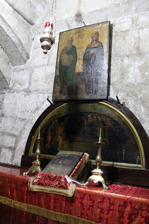 Chapel of Mary s parents, Joachim and Anne in the  Tomb of the Virgin Mary  Jerusalem Sajtókép