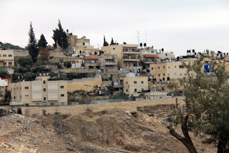 kefar: Silwan village  located over the ancient Jewish buildings and graves  Jerusalem Stock Photo
