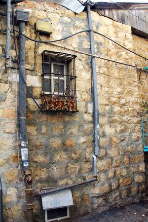 emigranti: Dimora storica della fine del XIX secolo a Gerusalemme, Israele Archivio Fotografico