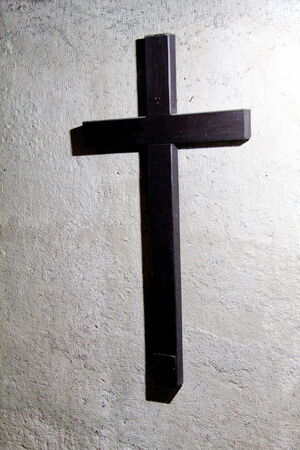 Cross on the wall inside Tomb of the Virgin Mary  Jerusalem Stock fotó