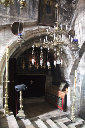 Interior inside Tomb of the Virgin Mary  Jerusalem