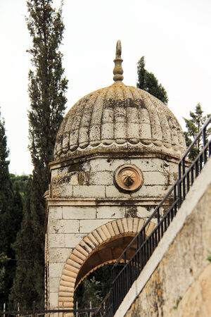 Outside View of the Tomb of the Virgin Mary  Jerusalem