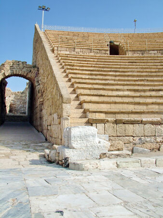 ancient roman amphitheater in caesaria , israel Stock Photo - 25649364