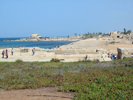 ceasarea: Hippodrome   Ancient  Caesarea  Israel Editorial