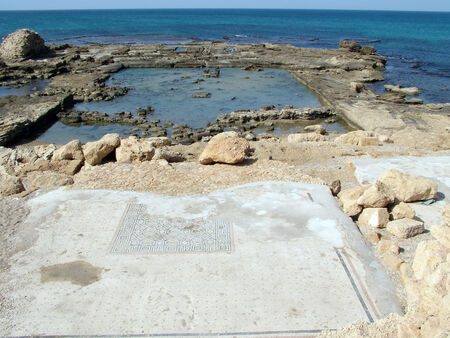 mediteranean: Ancient  Caesarea  Israel