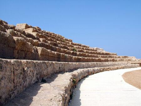 ceasarea: Hippodrome   Ancient  Caesarea  Israel Stock Photo