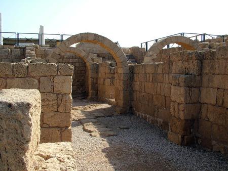 ceasarea: Ancient Arch  Caesarea  Israel