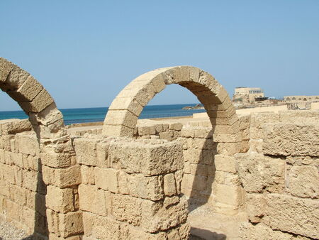 Ancient Arch  Caesarea  Israel photo