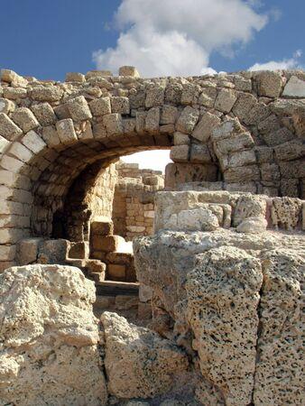 mediteranean: Ancient Arch  Caesarea  Israel