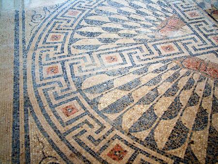 caesarea: Ancient mosaic  Caesarea  Israel