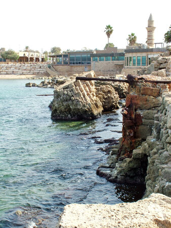 Ancient  Caesarea port   Israel photo