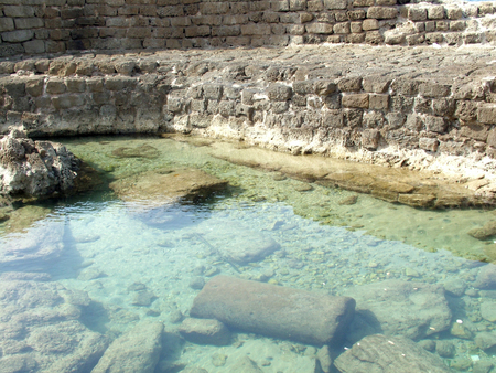 ceasarea: Ancient  Caesarea port   Israel