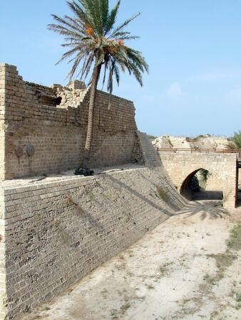 caesarea: Crusader fortress   Ancient Caesarea  Israel Stock Photo