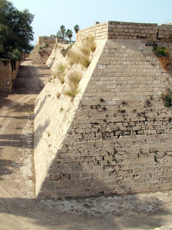 Crusader fortress   Ancient Caesarea  Israel Stock Photo - 25623364