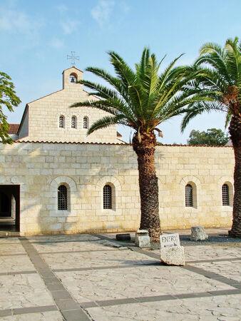 Church of Multiplication Facade in Tabgha  Israel