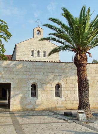 Church of Multiplication Facade in Tabgha  Israel photo