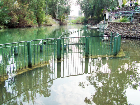Place for baptism in the Jordan River just after the Sea of Galilee  Israel photo