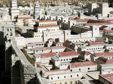 Palaces of the High Priest Caiaphas and Herod  in the background   Ancient Jerusalem  Israel Reklamní fotografie