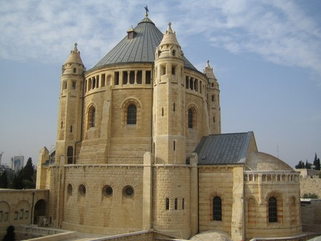 mediterranian: The Church of the Dormition in Jerusalem,The Old City, Israel