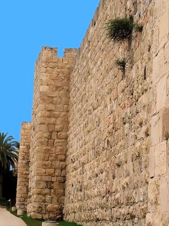 Old Jerusalem City Wall photo