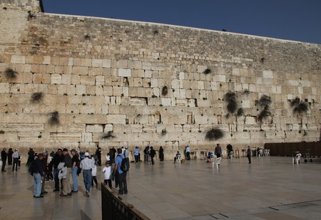 holiest:  at the holiest Jewish site - Western Wailing wall