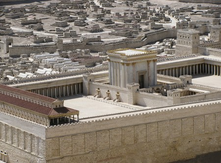 ancient Jerusalem in the period of the second temple  版權商用圖片