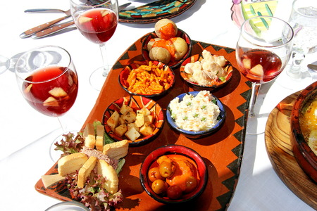 Spanish salads at Gran Canaria