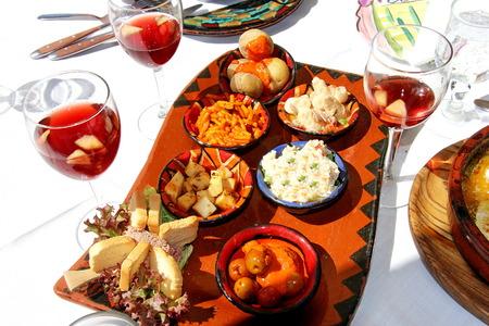 Spanish salads at Gran Canaria