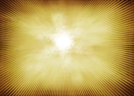irradiate: Radial wave orange yellow background Stock Photo