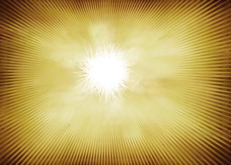 power projection: Radial wave orange yellow background Stock Photo