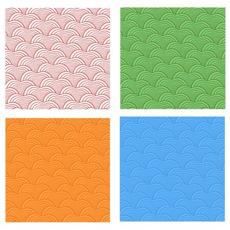 Seamless abstract  fish scale pattern set  The size of this set  allows  used each part separately photo