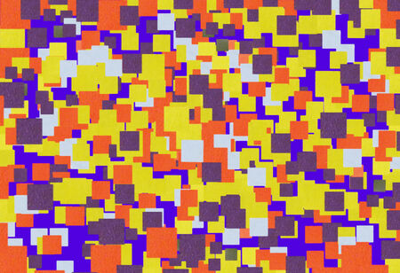 Bright mosaic   of colored squares application creates beautiful abstract vintage pattern  photo
