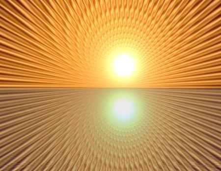 through travel: Space warp travel through  orange gold   abstract  universe